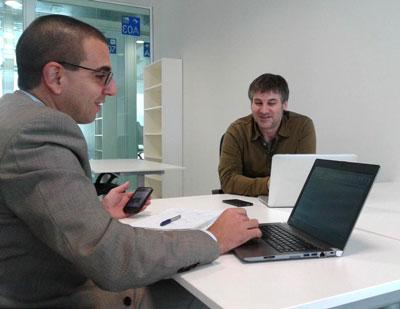 Pablo Olivera de Yashi Interactive con José Antonio Ruiz, asesor de negocio de La Terminal