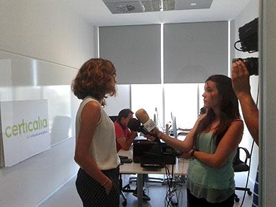 Inés García habla con Aragón Press en La Terminal