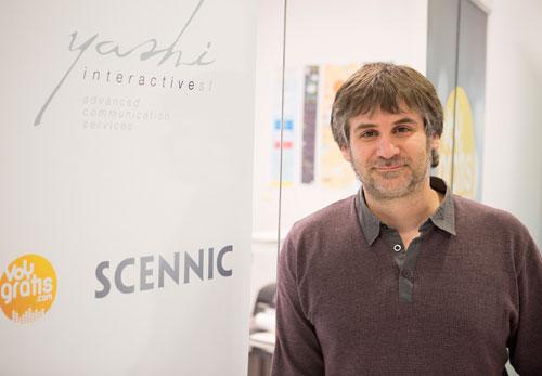 Pablo Olivera en su oficina Yashi Interactive en La  Terminal
