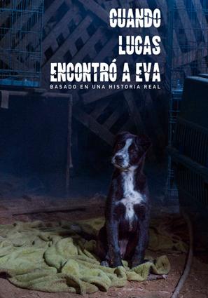 """Cartel promocional del cortometraje """"Cuando Lucas encontró a Eva"""" de la productora audiovisual Tiramisú producciones."""