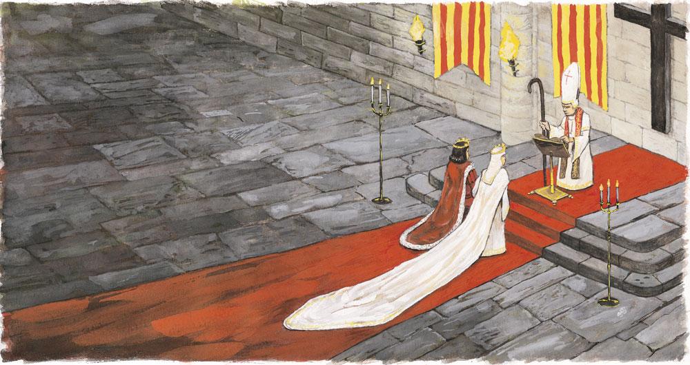 Segunda Boda, ilustración realizada para el libro El Rey Fernando, 2006. Todos los derechos reservados.